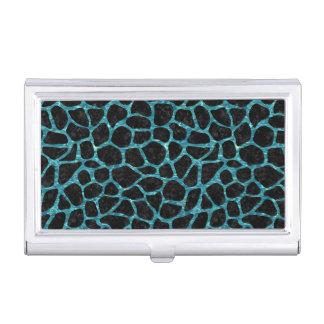 SKIN1 BLACK MARBLE & BLUE-GREEN WATER (R) BUSINESS CARD HOLDER