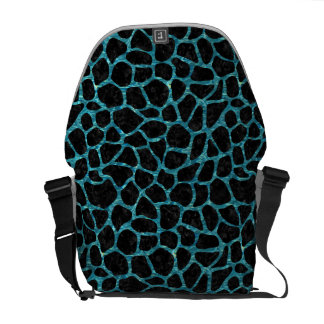 SKIN1 BLACK MARBLE & BLUE-GREEN WATER (R) COMMUTER BAG