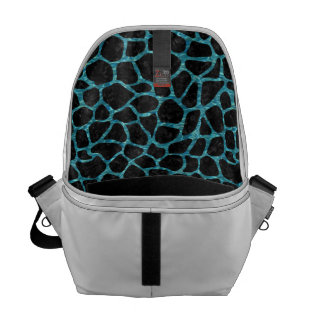 SKIN1 BLACK MARBLE & BLUE-GREEN WATER (R) COURIER BAG