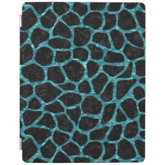 SKIN1 BLACK MARBLE & BLUE-GREEN WATER (R) iPad COVER