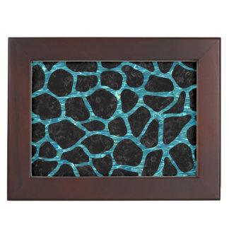 SKIN1 BLACK MARBLE & BLUE-GREEN WATER (R) KEEPSAKE BOX