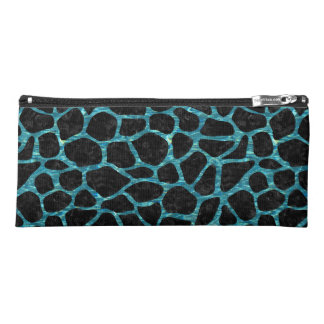 SKIN1 BLACK MARBLE & BLUE-GREEN WATER (R) PENCIL CASE
