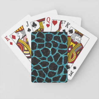 SKIN1 BLACK MARBLE & BLUE-GREEN WATER (R) PLAYING CARDS