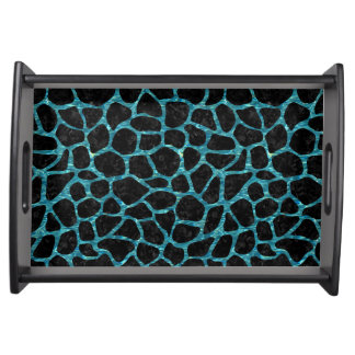 SKIN1 BLACK MARBLE & BLUE-GREEN WATER (R) SERVING TRAY