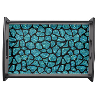 SKIN1 BLACK MARBLE & BLUE-GREEN WATER SERVING TRAY