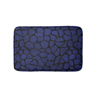 SKIN1 BLACK MARBLE & BLUE LEATHER BATH MAT