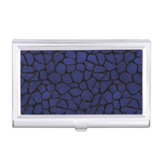 SKIN1 BLACK MARBLE & BLUE LEATHER BUSINESS CARD HOLDER