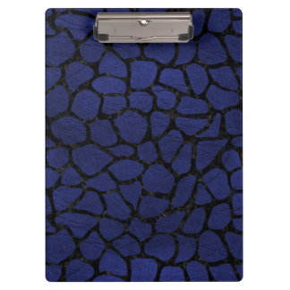 SKIN1 BLACK MARBLE & BLUE LEATHER CLIPBOARDS