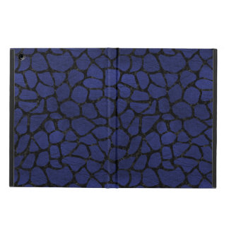 SKIN1 BLACK MARBLE & BLUE LEATHER iPad AIR CASE