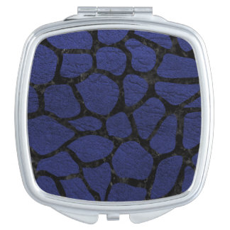 SKIN1 BLACK MARBLE & BLUE LEATHER MAKEUP MIRRORS