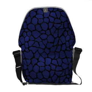 SKIN1 BLACK MARBLE & BLUE LEATHER MESSENGER BAG