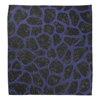 SKIN1 BLACK MARBLE & BLUE LEATHER (R) BANDANA