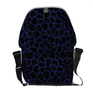 SKIN1 BLACK MARBLE & BLUE LEATHER (R) COURIER BAG