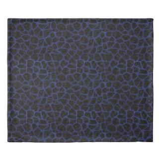 SKIN1 BLACK MARBLE & BLUE LEATHER (R) DUVET COVER