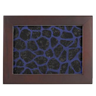 SKIN1 BLACK MARBLE & BLUE LEATHER (R) KEEPSAKE BOX