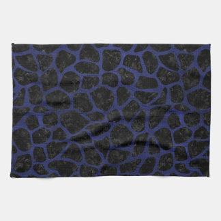 SKIN1 BLACK MARBLE & BLUE LEATHER (R) KITCHEN TOWEL