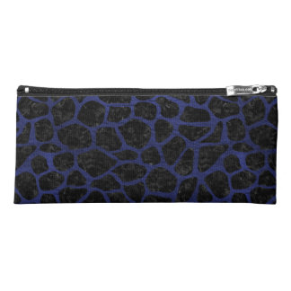 SKIN1 BLACK MARBLE & BLUE LEATHER (R) PENCIL CASE
