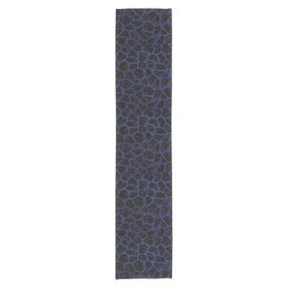 SKIN1 BLACK MARBLE & BLUE LEATHER (R) SHORT TABLE RUNNER