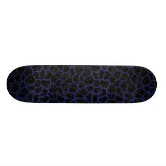 SKIN1 BLACK MARBLE & BLUE LEATHER (R) SKATE BOARD