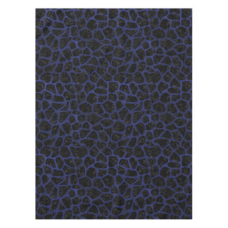 SKIN1 BLACK MARBLE & BLUE LEATHER (R) TABLECLOTH