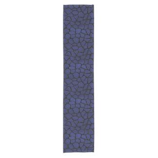 SKIN1 BLACK MARBLE & BLUE LEATHER SHORT TABLE RUNNER