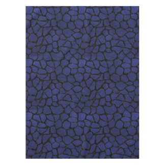 SKIN1 BLACK MARBLE & BLUE LEATHER TABLECLOTH