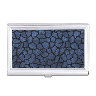 SKIN1 BLACK MARBLE & BLUE STONE BUSINESS CARD HOLDER