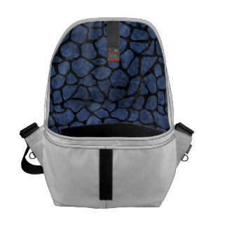SKIN1 BLACK MARBLE & BLUE STONE COMMUTER BAG