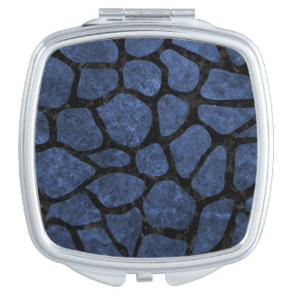 SKIN1 BLACK MARBLE & BLUE STONE COMPACT MIRROR