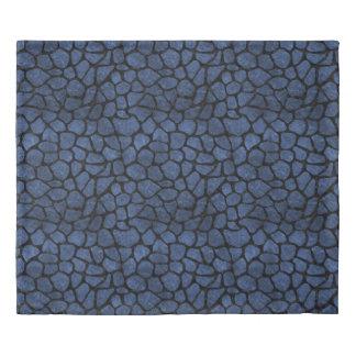 SKIN1 BLACK MARBLE & BLUE STONE DUVET COVER