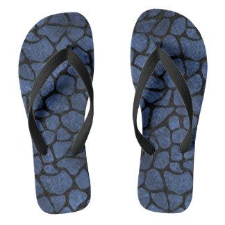 SKIN1 BLACK MARBLE & BLUE STONE FLIP FLOPS