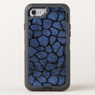 SKIN1 BLACK MARBLE & BLUE STONE OtterBox DEFENDER iPhone 8/7 CASE