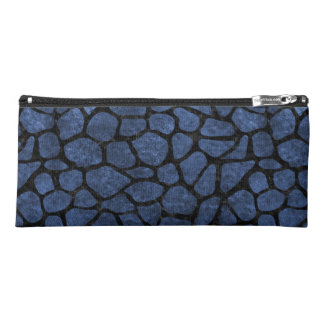 SKIN1 BLACK MARBLE & BLUE STONE PENCIL CASE