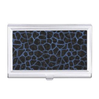 SKIN1 BLACK MARBLE & BLUE STONE (R) BUSINESS CARD HOLDER
