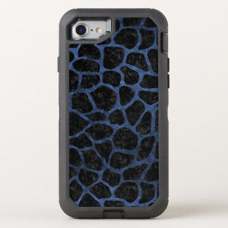 SKIN1 BLACK MARBLE & BLUE STONE (R) OtterBox DEFENDER iPhone 8/7 CASE