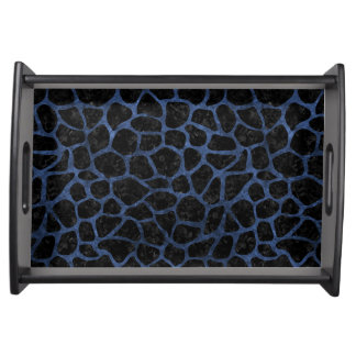 SKIN1 BLACK MARBLE & BLUE STONE (R) SERVING TRAY