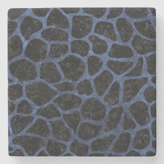 SKIN1 BLACK MARBLE & BLUE STONE (R) STONE COASTER