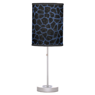 SKIN1 BLACK MARBLE & BLUE STONE (R) TABLE LAMP