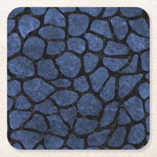 SKIN1 BLACK MARBLE & BLUE STONE SQUARE PAPER COASTER