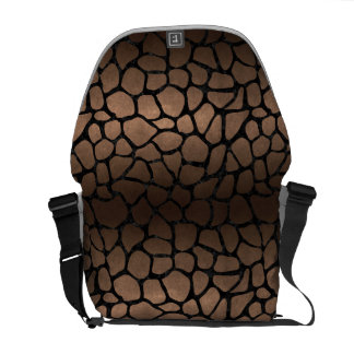 SKIN1 BLACK MARBLE & BRONZE METAL COURIER BAG