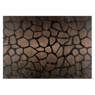 SKIN1 BLACK MARBLE & BRONZE METAL CUTTING BOARD