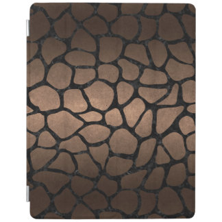 SKIN1 BLACK MARBLE & BRONZE METAL iPad COVER