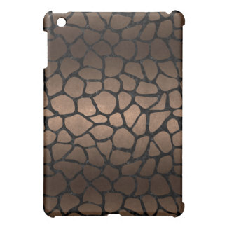 SKIN1 BLACK MARBLE & BRONZE METAL iPad MINI COVER