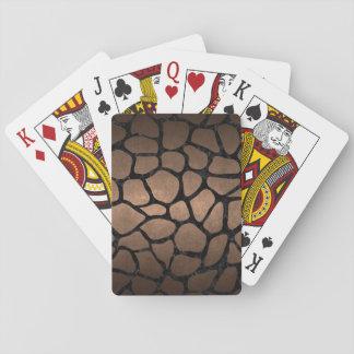 SKIN1 BLACK MARBLE & BRONZE METAL PLAYING CARDS