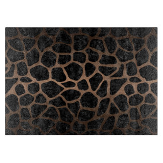SKIN1 BLACK MARBLE & BRONZE METAL (R) CUTTING BOARD