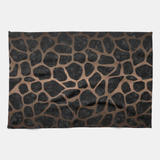 SKIN1 BLACK MARBLE & BRONZE METAL (R) KITCHEN TOWEL