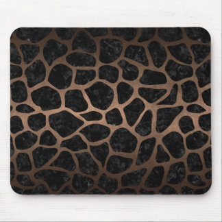 SKIN1 BLACK MARBLE & BRONZE METAL (R) MOUSE PAD