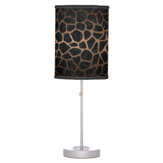 SKIN1 BLACK MARBLE & BRONZE METAL (R) TABLE LAMP
