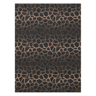 SKIN1 BLACK MARBLE & BRONZE METAL (R) TABLECLOTH