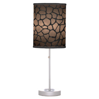 SKIN1 BLACK MARBLE & BRONZE METAL TABLE LAMP